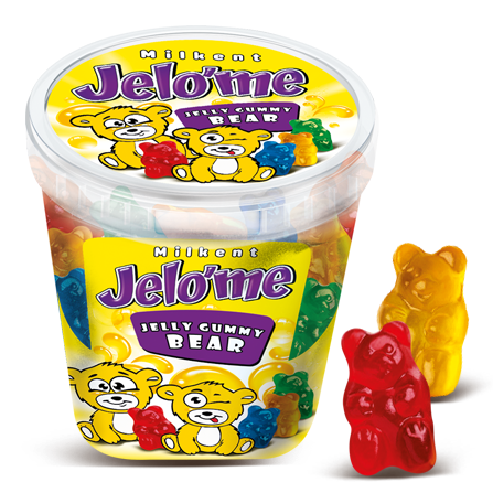 Jelo'me Fruit Flavored Jelly Gummy Bear Candy