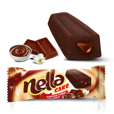 Nella Chocolate Sauce Filled Cake Cocoa